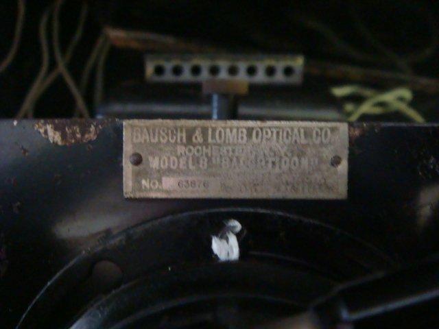 501: BAUSCH LOMB Model B Magic Lantern and Slides: - 3