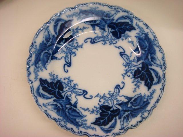 "639: Six JOHNSON BROS ""Fulton"" Flow Blue Plates: - 2"