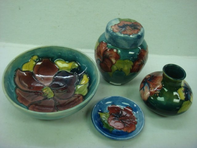 301: Four Pieces of MOORCROFT Pottery, CA 1949-1986:
