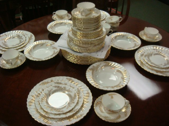 309: Set of MINTON Golden Fern China, 63 Pieces: