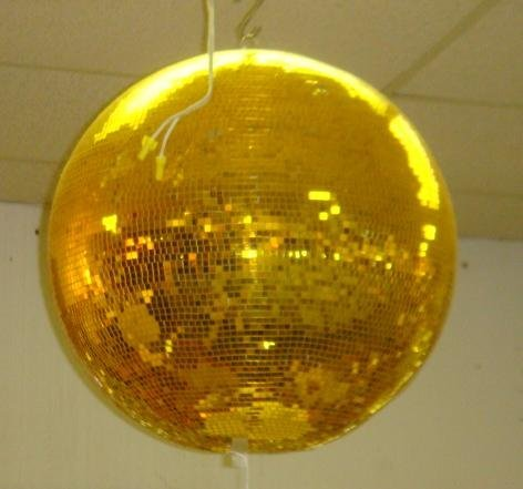 317: The Ultimate Gold Mirrored Disco Ball:
