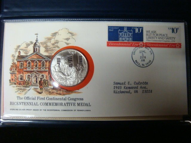 1: Official 1st Continental Congress Bicentennial Coin: