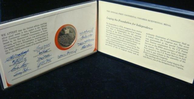 1: Official 1st Continental Congress Bicentennial Coin: - 3