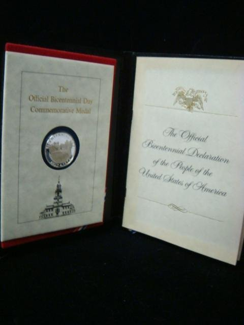 2: Official Bicentennial Commemorative Medal July 4, 76