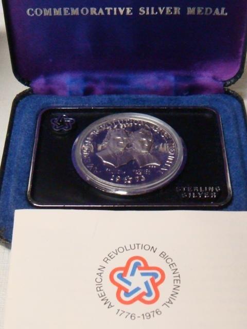 9: 1973 Bicentennial Commemorative Silver Medal: