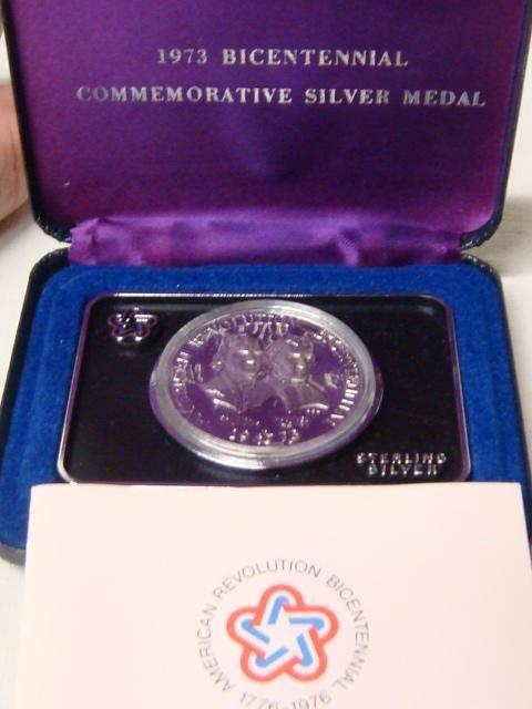 11: 1973 Bicentennial Commemorative Silver Medal: