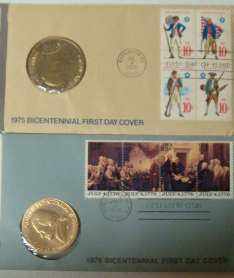 12: Four Bicentennial 1st Day Covers 1973, 74, 75, & 76 - 3