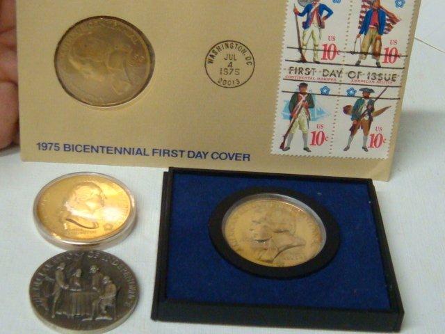 14: Four Bicentennial Coins, 1972, 2 x 1975, 1976: