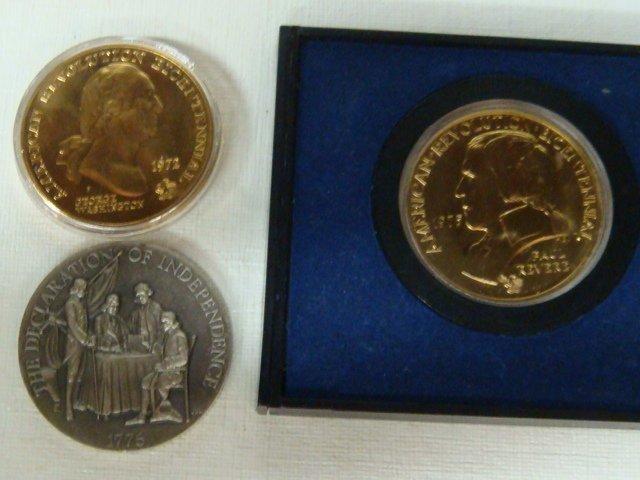 14: Four Bicentennial Coins, 1972, 2 x 1975, 1976: - 2