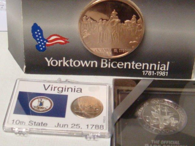 15: Three Virginia Bicentennial and Commemorative Coins