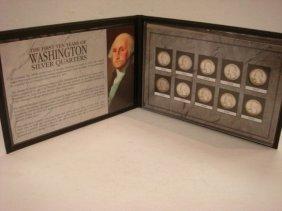 1st 10 Years Washington Silver Quarters Set: