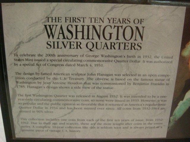 18: 1st 10 Years Washington Silver Quarters Set: - 3
