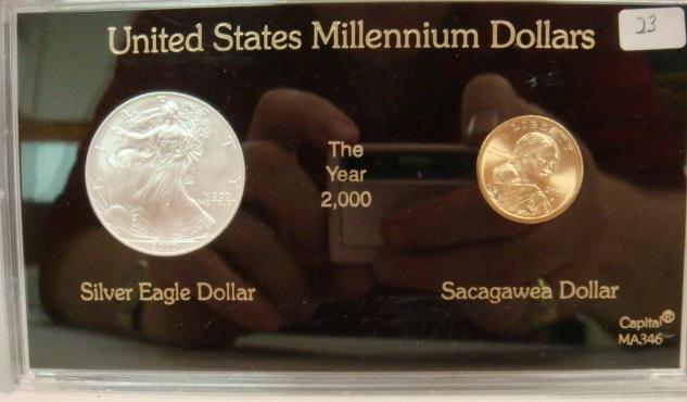 23: UNITED STATES MILLENNIUM DOLLARS, EAGLE & SACAGAWEA
