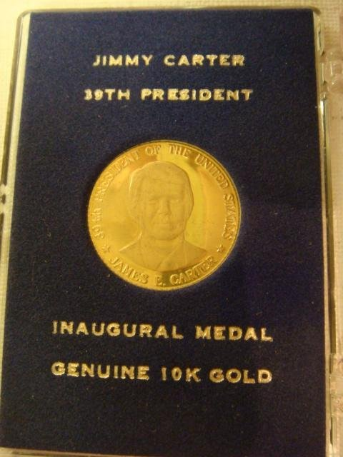 25A: Gold Jimmy Carter Inaugural Coin, 10 KT Gold: