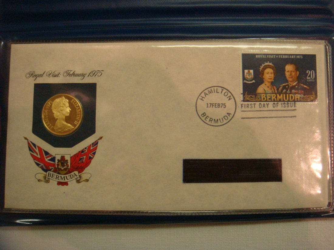 27: 1975 $100 Gold Coin of Bermuda w/ First Day Cover: