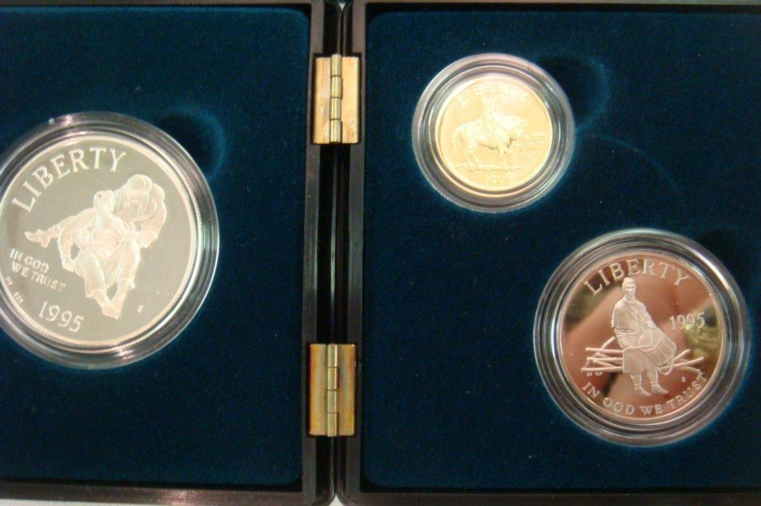29: 3 Coin Proof Set CIVIL WAR BATTLEFIELD PRESERVATION