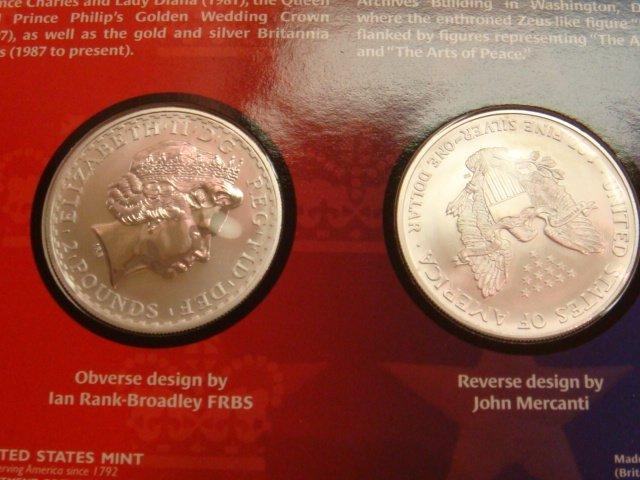 32: LEGACIES OF FREEDOM, US & UK SILVER BULLION COIN SE - 4