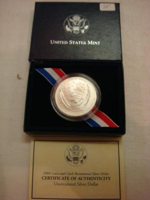 35: 2004 LEWIS & CLARK BICENTENNIAL Silver Dollar: