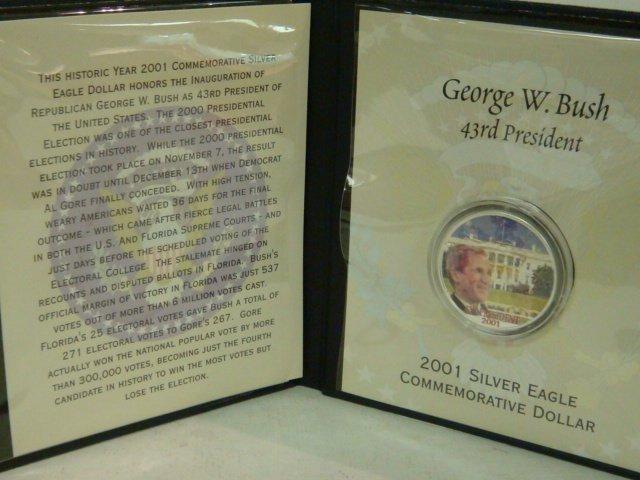 58: 2001 US Silver Eagle Dollar Honoring George W. Bush