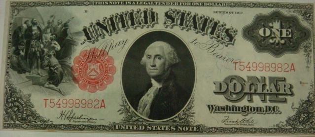 65: US Series 1917 LEGAL TENDER NOTE, $1,  Uncirculated