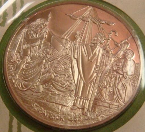 70: 1st St Patrick's Day Commemorative Silver Coin 1972