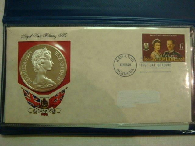 72: 1975 Bermuda $25 Dollar Sterling Silver Coin & Cach