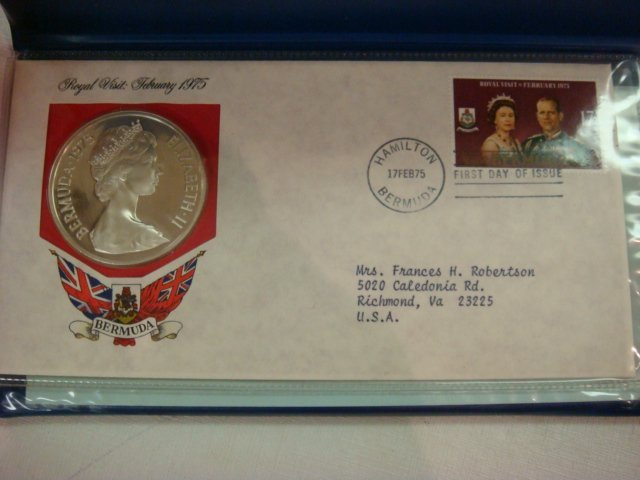 73: 1975 Bermuda $25 Dollar Sterling Silver Coin & Cach