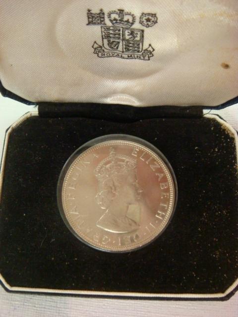 77: Bermuda 1964 Silver Crown Coin, Proof Condition