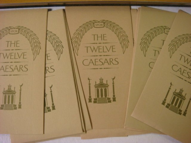 106: THE TWELVE CAESARS Sterling Silver Medallions: - 4