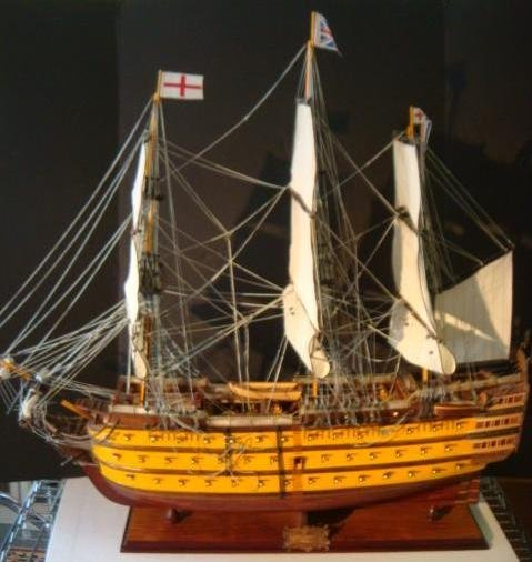 """116: Wooden Ship Model """"HMS VICTORY"""":"""