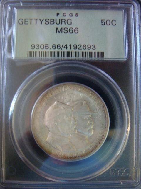 31B: PCGS MS-66 Gettysburg Commemorative 50 Cent Piece: