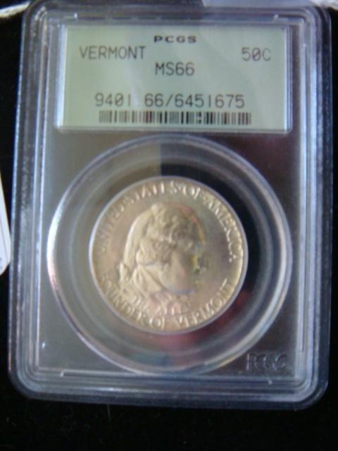 31C: PCGS MS-66 Vermont Sesquicentennial 50 Cent Coin: