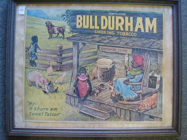199: Bull Durham Tobacco Black Americana Ad Poster: