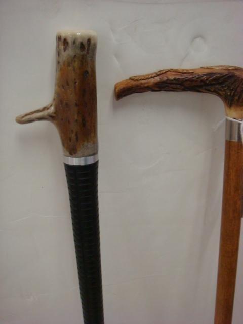 265: Three Antler and Deer Hoof Walking Sticks: - 2