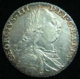 1787 George III English Silver Shilling: