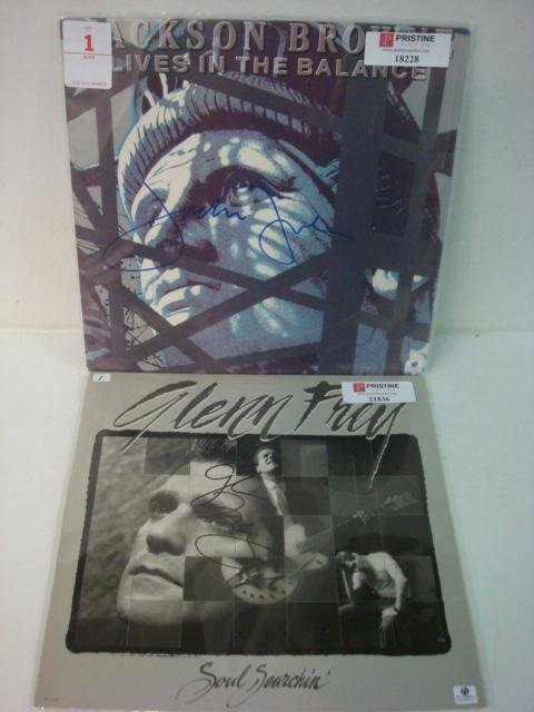 1: Two Autographed Album Cover Frey and Brown: