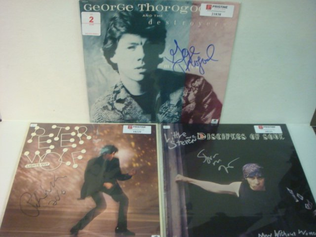2: Three Autographed Album Covers Steven, Wolf, Thorogo