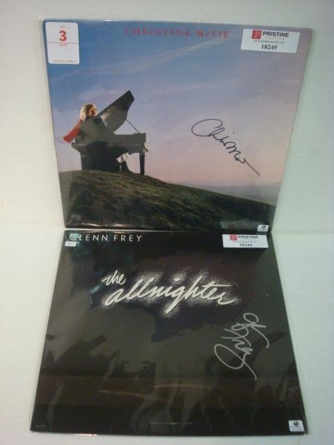 3: Two Autographed Album Covers McVie and Frey: