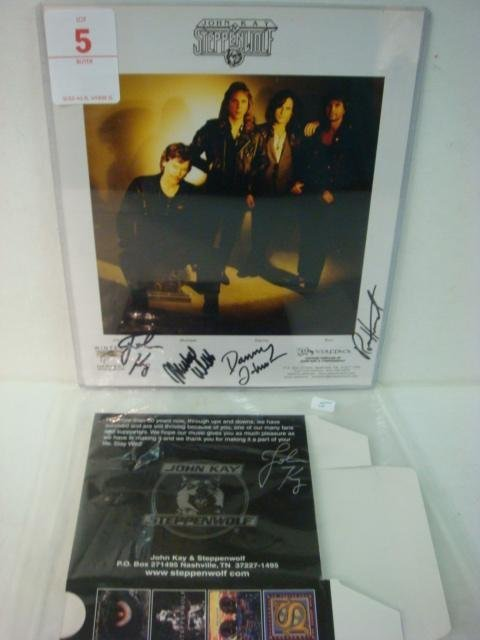 5: Autograph John Kay and Steppenwolf: