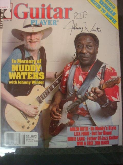 6: Johnny Winter Autograph: