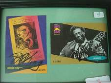 9 Two BB King Autographs on Collector Cards