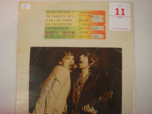 11: Mick Jagger and Keith Richards Autograph: