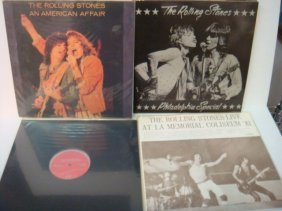 Four ROLLING STONES 33 1/3 RPM Records: