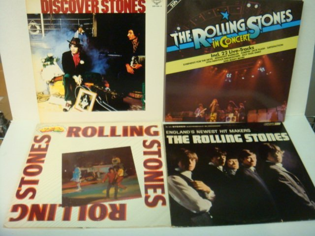 73: Four ROLLING STONES 33 1/3 RPM Records:
