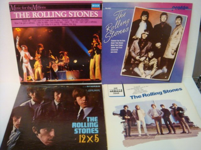 74: Four ROLLING STONES 33 1/3 RPM Records: