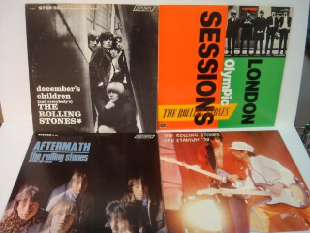 75: Four ROLLING STONES 33 1/3 RPM Records: