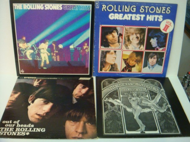 76: Four ROLLING STONES 33 1/3 RPM Records:
