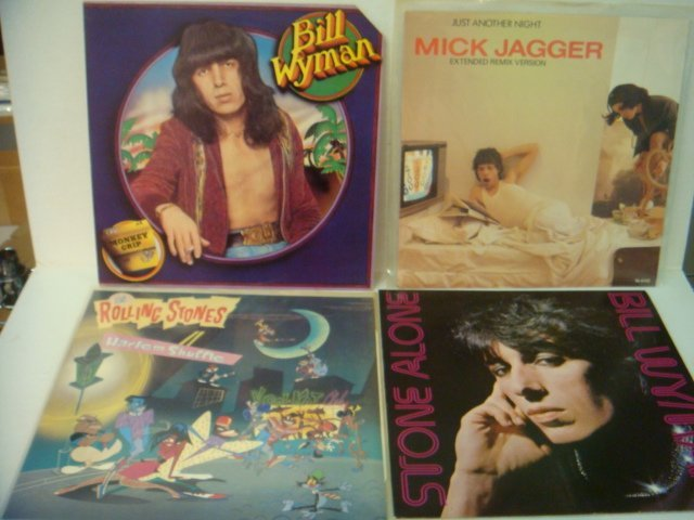 78: Four ROLLING STONES 33 1/3 RPM Records: