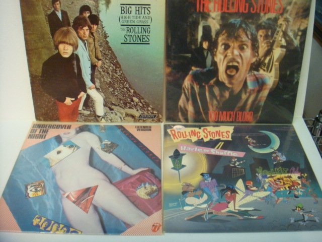 79: Four ROLLING STONES 33 1/3 RPM Records:
