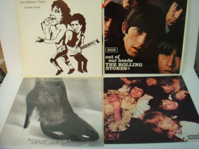80: Four ROLLING STONES 33 1/3 RPM Records: